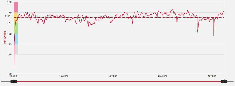 Herzfrequenz Polar H7 Burgwald Marathon