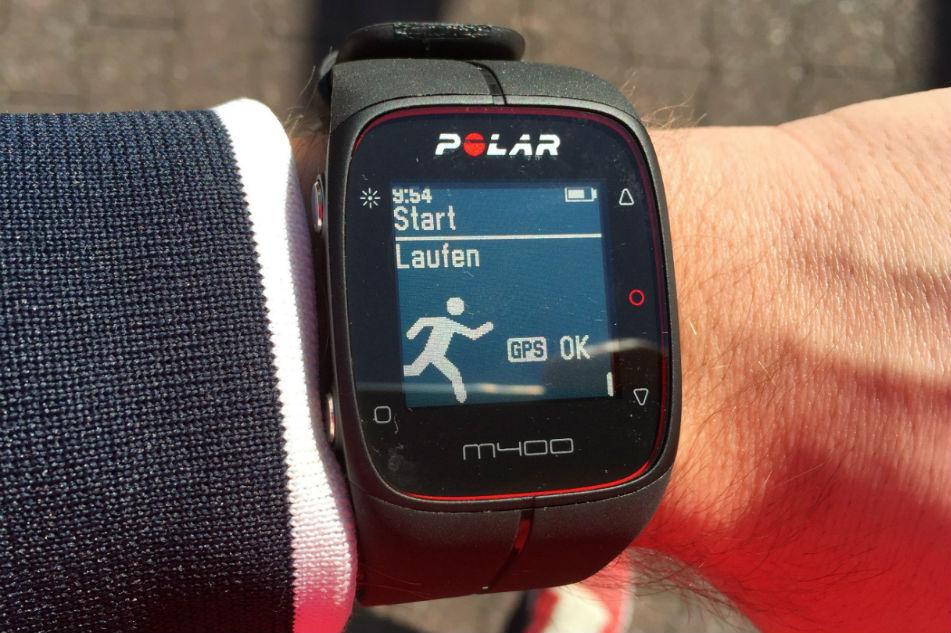Polar M400 Startbildschirm Laufen