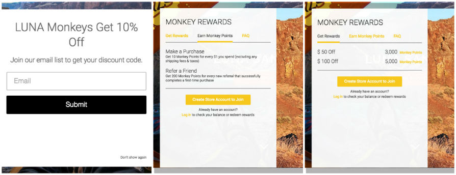 Luna Sandals Monkey Rewards Gutschein