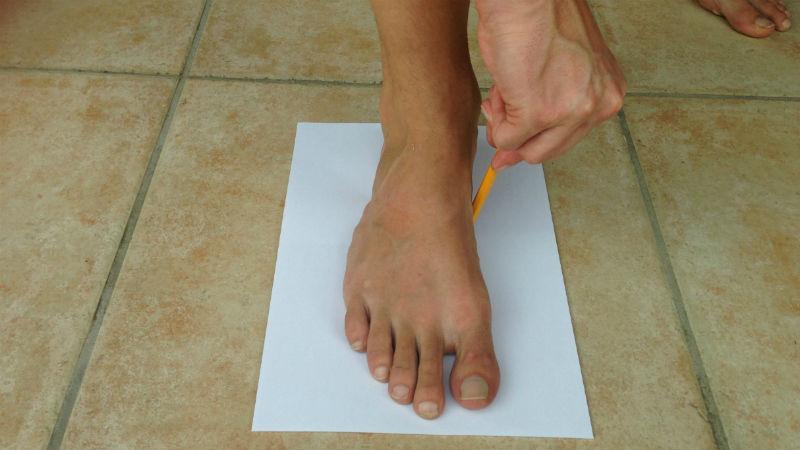 Traditionelle Huaraches Eigenbau Fußform