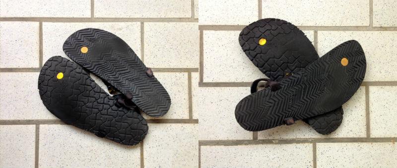 Luna Sandals Mono und Leadville Pacer Sohlenverschleiß im Vergleich