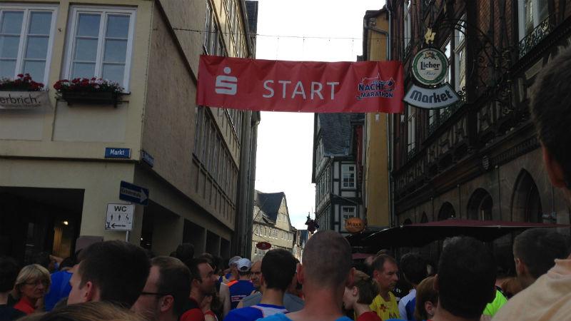 Marburg Nachtmarathon 2013 Marktplatz