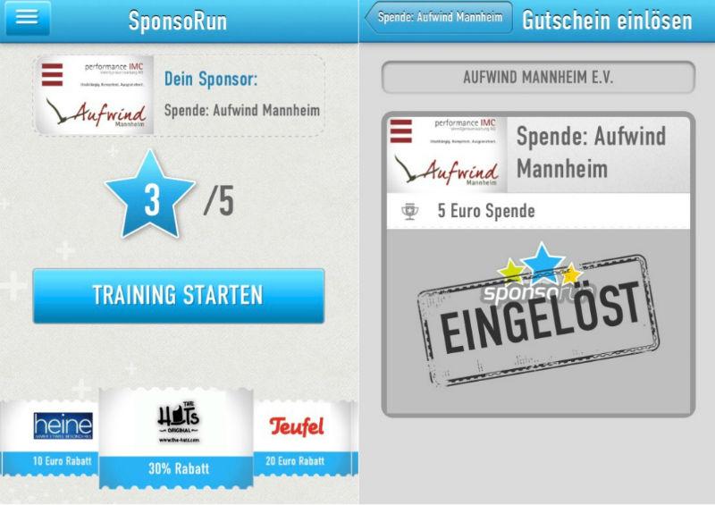 Sponsorun App Screenshots