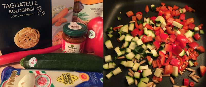 vegetarisches Nudelgericht