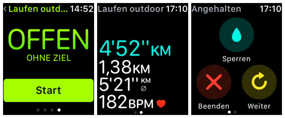 Apple Watch Training, Laufen outdoor