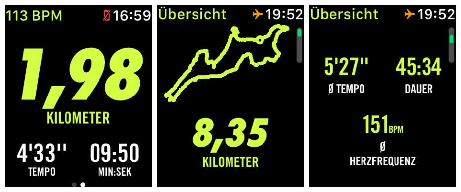 Apple Watch Nike+ Run Club Screenshots