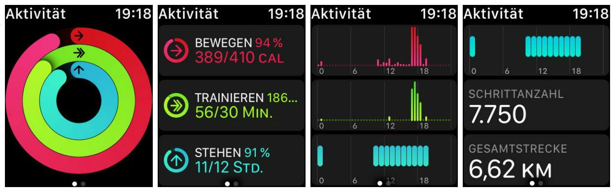 Apple Watch Aktivitätsübersicht