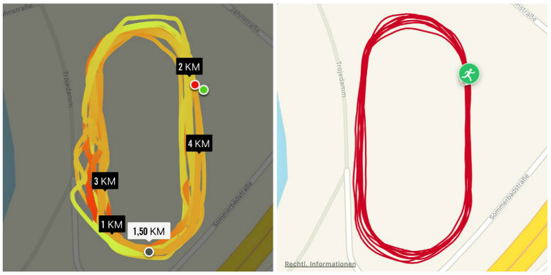 GPS-Tracking, Apple Watch vs. Polar M400