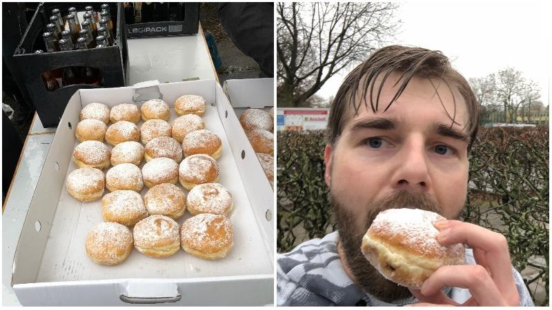 Berliner Pfannkuchen, Pfannkuchenlauf, Berliner Silvesterlauf